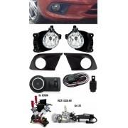Kit Farol de Milha Neblina Chevrolet Onix 2015 2016 Com Moldura LT / LS + Kit Xenon 6000K 8000K ou Kit Lâmpada Super LED 6000K