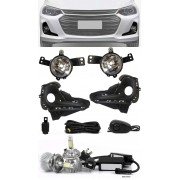 Kit Farol de Milha Neblina Chevrolet Onix e Onix Plus Sedan 2020 - Botão Alternativo + Kit Lâmpada Super LED 6000K