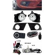 Kit Farol de Milha Neblina Chevrolet Onix Joy LT LS Com Moldura 2015 2016 2017 2018 2019 + Kit Xenon 6000K 8000K ou Kit Lâmpada Super LED 6000K
