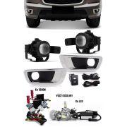 Kit Farol de Milha Neblina Chevrolet S10 S-10 e Trailblazer 2012 2013 2014 2015 + Kit Xenon 6000K 8000K ou Kit Lâmpada Super LED 6000K