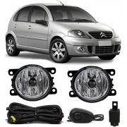 Kit Farol de Milha Neblina Citroen C3 2009 2010 2011 2012 - Interruptor Alternativo