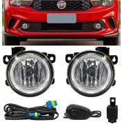 Kit Farol de Milha Neblina Fiat Argo 2018 2019 - Interruptor Alternativo
