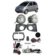Kit Farol de Milha Neblina Fiat Idea 2006 2007 2008 2009 2010 - Interruptor Alternativo + Kit Xenon 6000K / 8000K ou Kit Lâmpada Super LED 6000K