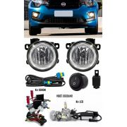 Kit Farol de Milha Neblina Fiat Mobi - Interruptor Alternativo + Kit Xenon 6000K 8000K ou Kit Lâmpada Super LED 6000K