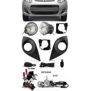 Kit Farol de Milha Neblina Fiat Novo Palio 2012 2013 2014 2015 2016 2017 + Kit Xenon 6000K 8000K ou Kit Lâmpada Super LED 6000K