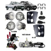 Kit Farol de Milha Neblina Fiat Palio Weekend Adventure Strada Fire 2005 à 2012 +  2 Kits Xenon 6000K / 8000K ou Kit Lâmpada Super