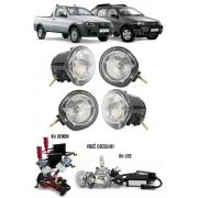 Kit Farol de Milha Neblina Fiat Palio Weekend / Adventure Strada Fire / Adventure + 2 Kit Xenon 6000K 8000K ou Kit Lâmpada Super LED 6000K