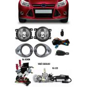 Kit Farol de Milha Neblina Ford Focus Hatch e Sedan 2014 2015 + Kit Xenon 6000K 8000K ou Kit Lâmpada Super LED 6000K