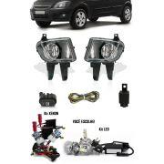 Kit Farol de Milha Neblina Gm Celta e Prisma 2006 2007 2008 2009 2010 2011 + Kit Xenon 6000K / 8000K ou Kit Lâmpada Super LED 6000K