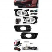 Kit Farol de Milha Neblina Honda City 2012 2013 2014 2015 + Kit Xenon 6000K / 8000K ou Kit Lâmpada Super LED 6000K