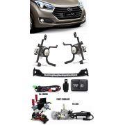 Kit Farol de Milha Neblina Hyundai HB20 2016 2017 2018 2019 Com Interruptor Trip + Molduras + Kit Xenon 6000K / 8000K ou Kit Lâmpada Super LED 6000K
