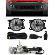 Kit Farol de Milha Neblina Jeep Renegade - Interruptor Alternativo + Kit Lâmpada Super LED Headlight H11 6000K 12V e 24V 32W 2200LM