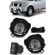 Kit Farol de Milha Neblina Nissan Frontier 2009 2010 2011 2012 - Interruptor Modelo Original