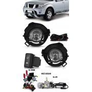 Kit Farol de Milha Neblina Nissan Frontier 2009 2010 2011 2012 - Interruptor Modelo Original + Kit Xenon 6000K / 8000K ou Kit Lâmpada Super LED 6000K