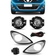 Kit Farol de Milha Neblina Nissan March 2014 2015 2016 2017 2018