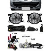 Kit Farol de Milha Neblina Peugeot 207 Sedan Passion + Kit Xenon 6000K / 8000K ou Kit Lâmpada Super LED 6000K