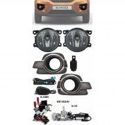 Kit Farol de Milha Neblina Renault Kwid Todos Com Molduras + Kit Xenon 6000K / 8000K ou Kit Lâmpada Super LED 6000K