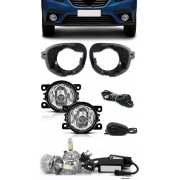 Kit Farol de Milha Neblina Renault Sandero 2019 2020 2021 - Interruptor de Alternativo + Kit Lâmpada Super LED 6000K
