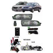 Kit Farol de Milha Neblina Toyota Corolla 2003 2004 Fielder Todas + Kit Xenon 6000K / 8000K ou Kit Lâmpada Super LED 6000K