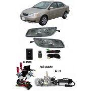 Kit Farol de Milha Neblina Toyota Corolla 2005 2006 2007 2008 + Kit Xenon 6000K / 8000K ou Kit Lâmpada Super LED 6000K