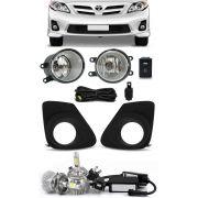 Kit Farol de Milha Neblina Toyota Novo Corolla 2012 2013 + Kit Lâmpada Super LED 6000K