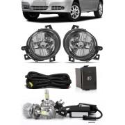 Kit Farol de Milha Neblina Vw Gol Parati Saveiro G4 - Botão Painel + Kit Lâmpada Super LED 6000K
