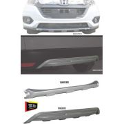 Kit Protetor Traseiro + Dianteiro de Para-Choque TG Poli Honda HRV 2019 2020 - Prata Aluminium