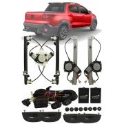 Kit Vidro Elétrico Fiat Nova Strada 2020 2021 4 Portas Completo Dianteiro e Traseiro Sensorizado