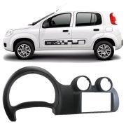 Moldura Painel 2 Din Dvd Fiat Novo Uno 2012 2013 2014 2015