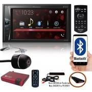 """Multimídia 2 Din Pioneer DMH-G228BT Tela 6,2"""" Polegadas Com Bluetooth Entrada USB Entrada Auxiliar e TouchScreen + Câmera de Ré + Receptor Sintonizador TV Digital"""