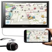 "Multimídia 2 Din Pioneer DMH-Z6380TV Tela 6.8"" TV Digital Bluetooth USB + Câmera Ré"