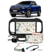 """Multimídia 9"""" Polegadas Fiat Toro Espelhamento USB Bluetooth + Moldura Painel + Chicotes + Câmera de Ré"""