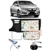 """Multimídia 9"""" Polegadas Honda City 2015 à 2020 Espelhamento USB Bluetooth + Chicotes + Moldura Painel + Câmera de Ré"""