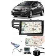 """Multimídia 9"""" Polegadas Honda Fit 2015 à 2020 Espelhamento USB Bluetooth + Chicotes + Interface Volante + Moldura Painel + Câmera de Ré"""