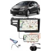 """Multimídia 9"""" Polegadas Honda Fit 2015 à 2020 Espelhamento USB Bluetooth + Chicotes + Moldura Painel + Câmera de Ré"""