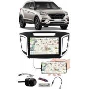"""Multimídia 9"""" Polegadas Hyundai Creta Espelhamento USB Bluetooth + Chicotes + Moldura Painel + Câmera de Ré"""