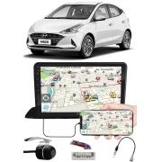 """Multimídia 9"""" Polegadas Hyundai HB20 2020 2021 Espelhamento USB Bluetooth + Moldura Painel + Chicotes + Câmera de Ré"""