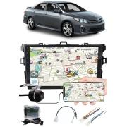 """Multimídia 9"""" Polegadas Toyota Corolla 2009 à 2014 Espelhamento USB Bluetooth + Moldura Painel + Interface Volante + Chicotes + Câmera de Ré"""