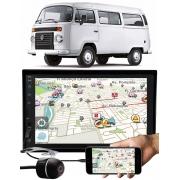 Multimídia E-Tech Vw Kombi Bluetooth Espelhamento Android IOS + Moldura Painel + Câmera Ré