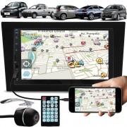 Multimídia Gm Corsa Montana Vectra Meriva Espelhamento Bluetooth USB SD Card + Moldura + Câmera Ré