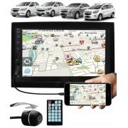 Multimídia Gm Onix Cobalt Spin Novo Prisma Espelhamento Bluetooth USB SD Card + Moldura + Câmera Ré