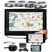 Multimídia Gm Onix Cobalt Spin Novo Prisma Espelhamento Bluetooth USB SD Card + Moldura + Interface Comando Volante + Câmera Ré