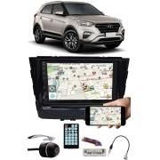Multimídia Hyundai Creta Espelhamento Bluetooth USB SD Card + Moldura + Chicotes + Câmera Ré