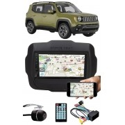 Multimídia Jeep Renegade Espelhamento Bluetooth USB SD Card + Moldura + Chicotes + Câmera Ré