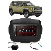 Multimídia Pioneer DMH-G228BT Jeep Renegade PCD Bluetooth USB + Moldura + Chicote Adaptador Antena + Câmera Ré