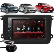 Multimídia Pioneer DMH-G228BT Vw Gol Saveiro Voyage G7 G8 2017 À 2021 Bluetooth USB + Moldura + Câmera Ré