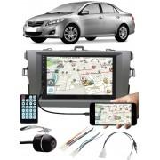 Multimídia Toyota Corolla 2009 à 2013 Espelhamento Bluetooth USB SD Card + Moldura + Chicotes + Câmera Ré