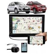 Multimídia Ford Fiesta Ecosport Espelhamento Bluetooth USB SD Card + Moldura + Câmera Ré