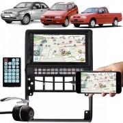 Multimídia Vw Gol Parati Saveiro G2 Espelhamento Bluetooth USB SD Card + Moldura + Câmera Ré