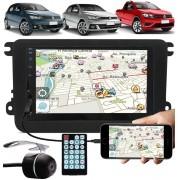 Multimídia Vw Gol Saveiro Voyage G7 G8 2017 À 2021 Espelhamento Bluetooth USB SD Card + Moldura + Câmera Ré